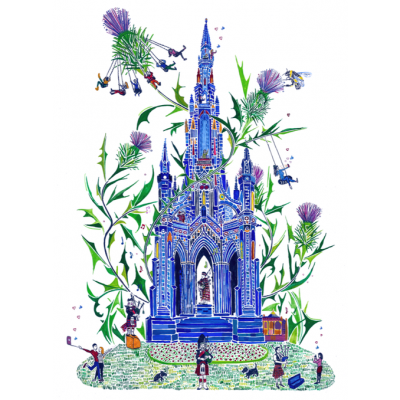 The Scott Monument by Libby Walker