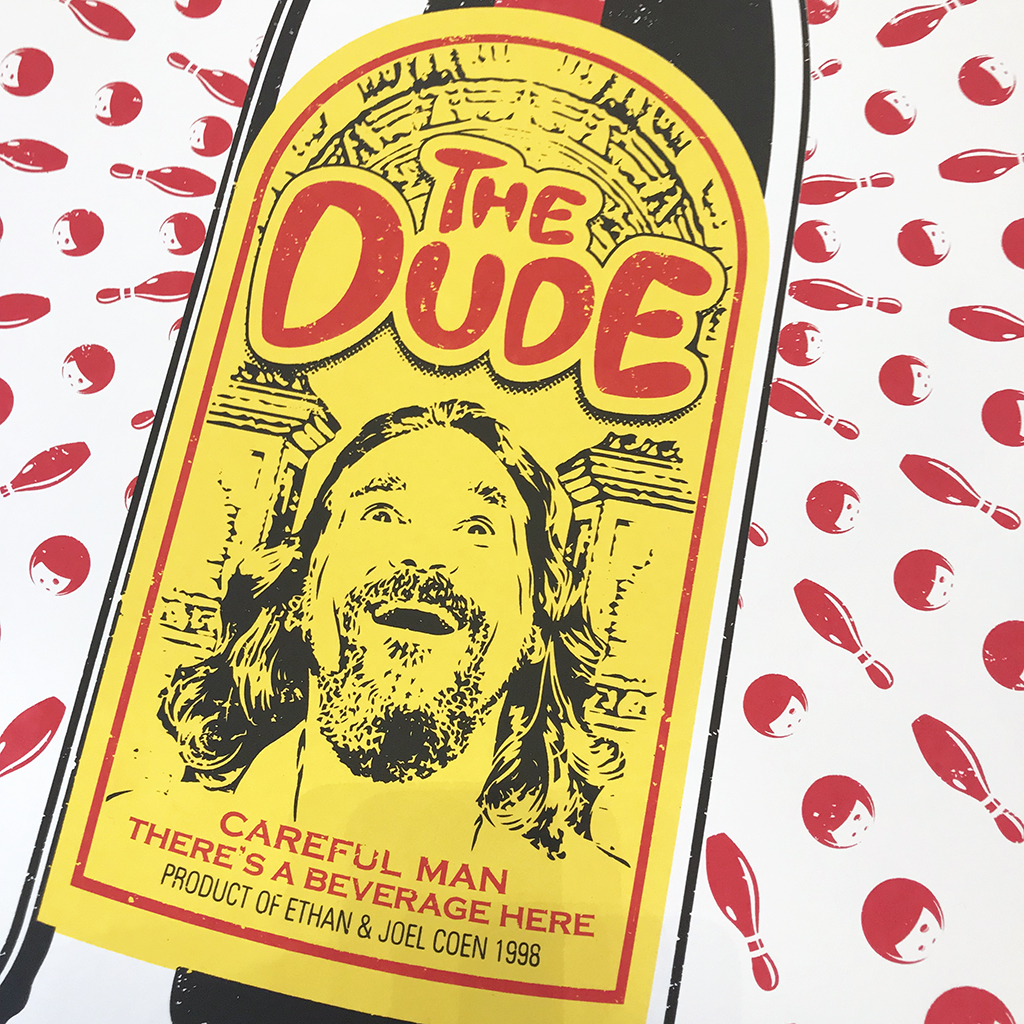 The Dude from The Big Lebowski by Barry D Bulsara
