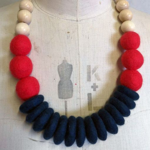 Throw On Merino and Wood Necklace by Lynsey Walters