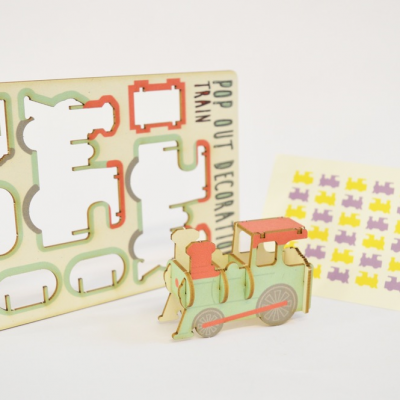 Train - made - pop out card