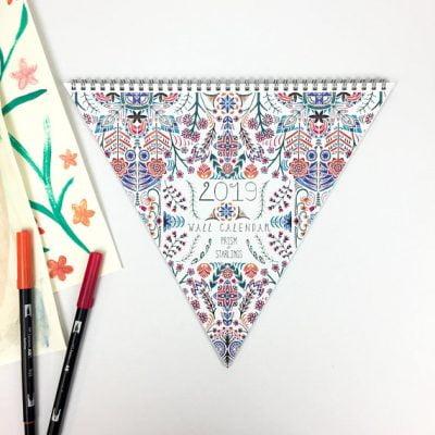 Triangle Wall Calendar