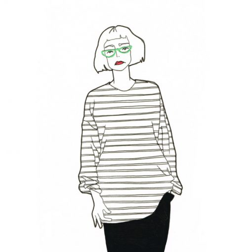 Trix,street style illustration by Lindsey Brown