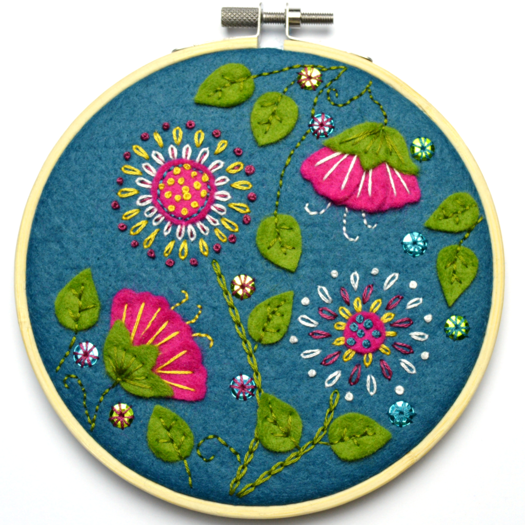 Tropical Flowers Applique Kit by Corrine Lapierre