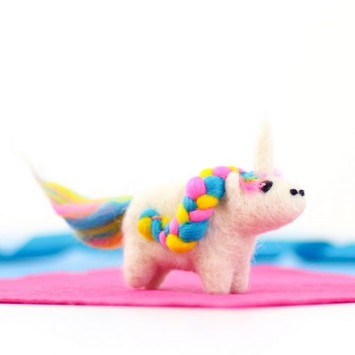 magical unicorn felting kit by hawthorn handmade