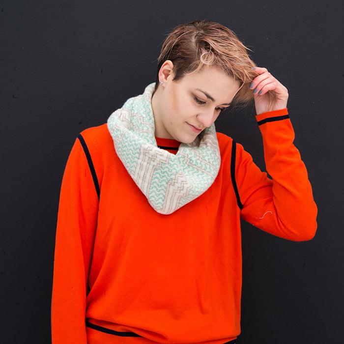 Voar Twist Snood by Mixter Master Knitwear