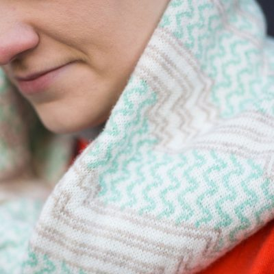 Voar Twist Snood by Mixter Master Knitwear