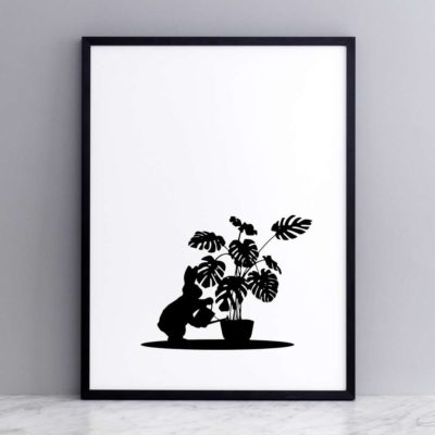 Watering Rabbit print