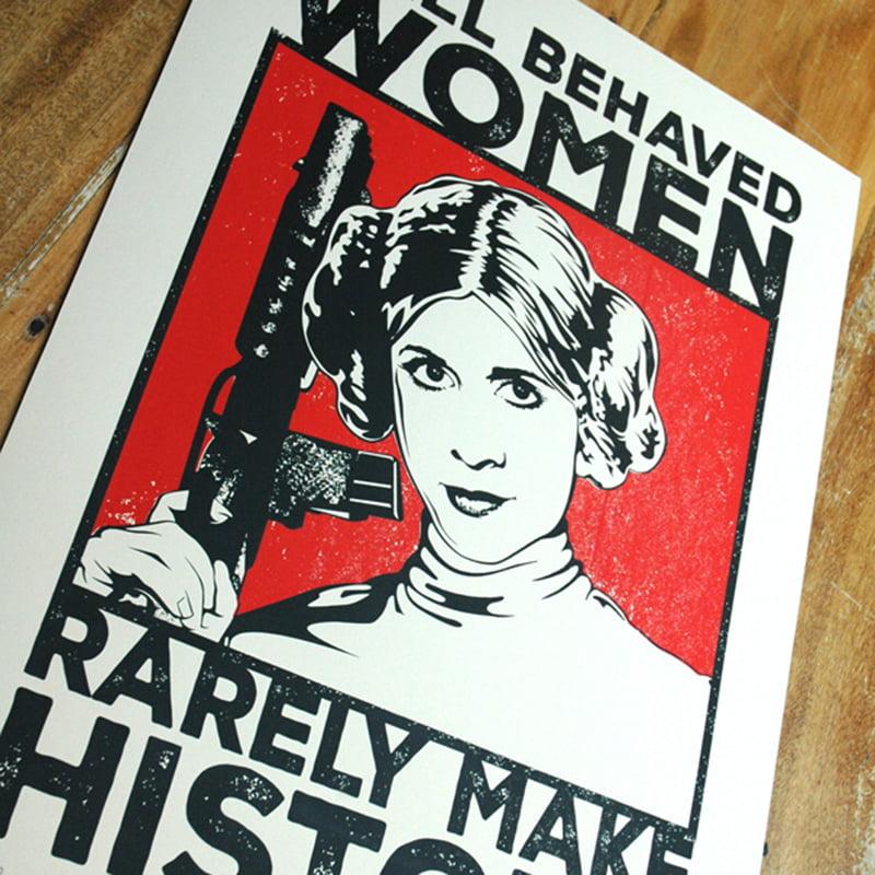 Well Behaved Woman by Barry Bulsara, Star Wars, Princess Leiia