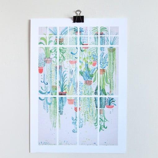 cacti, hanging planter, david fleck, macrame, succulents