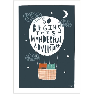Wonderful Adventure print by Freya