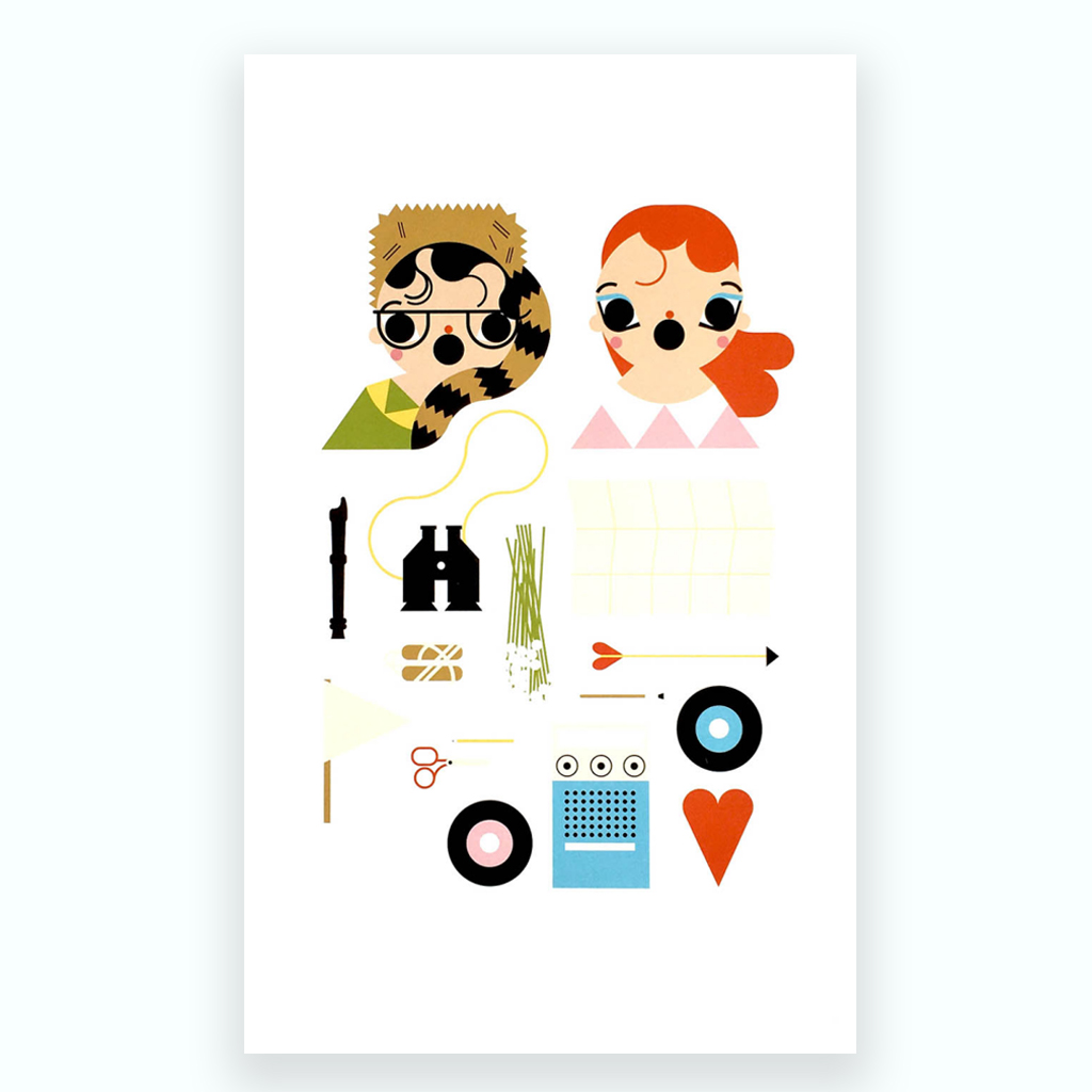 Moonrise Kingdom Print by Charlotte Henderson for ECA Maps Exhibition