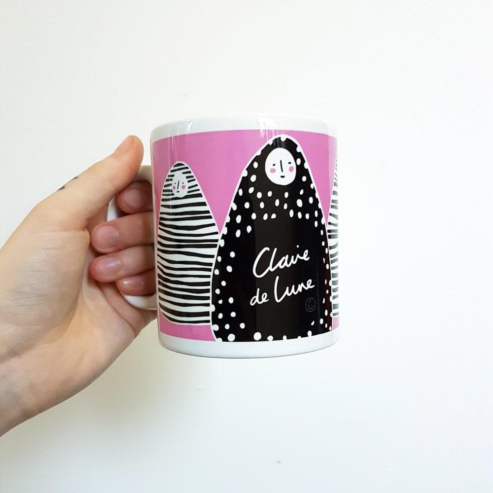 Pink Alma Mug by Claire de la Lune