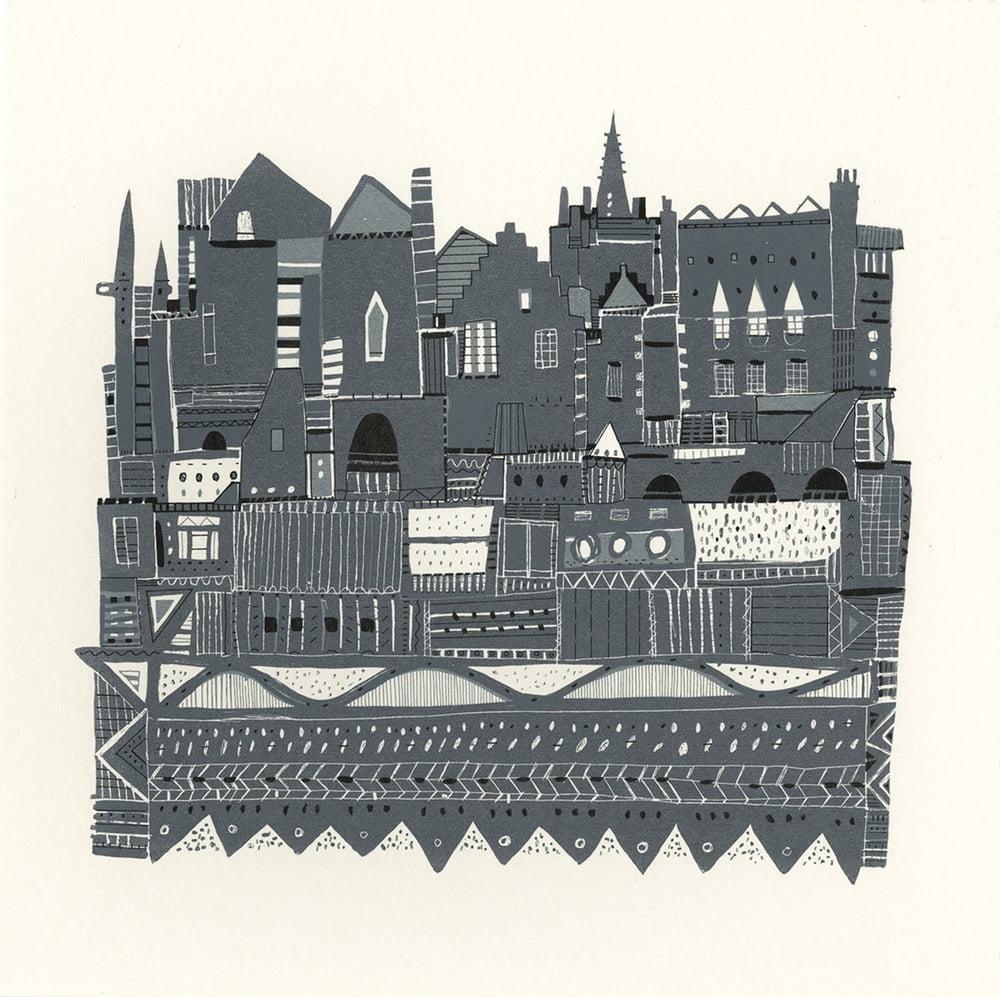 Edinburgh, Roof tops, Colourful Rooftops, Susie Wright, Edinburgh Views, Edinburgh Art