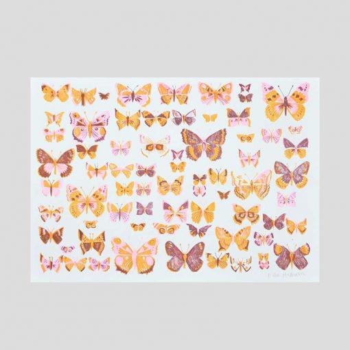 British Butterflies Risograph