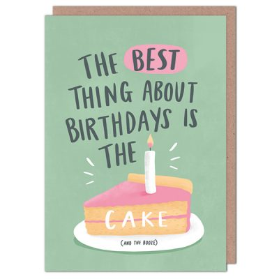 cake and booze card