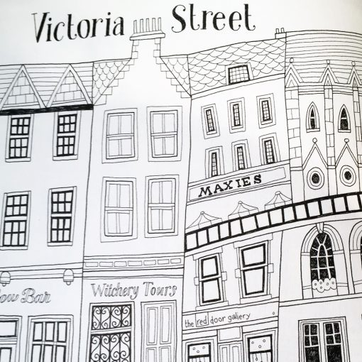 The Colouring Book of Edinburgh by Eilidh Muldoon at The Red Door Gallery