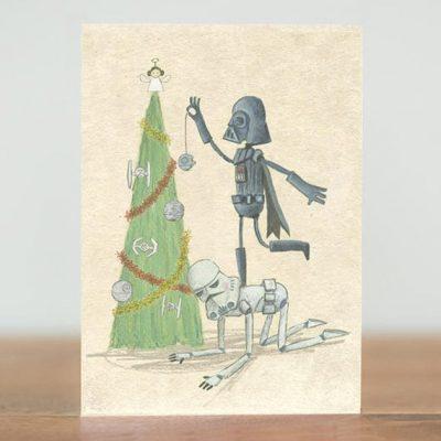 darth vadar tree card