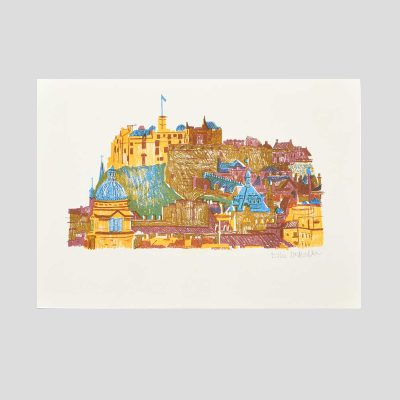 Edinburgh Castle Risograph by East End Press