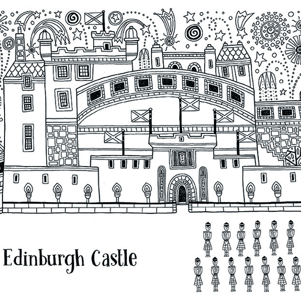 Scotland Colouring Book The Red Door Gallery