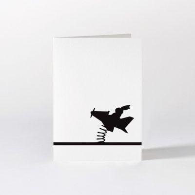 flying rabbit card