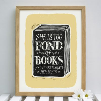 fond.of_.books_.yellow.framed