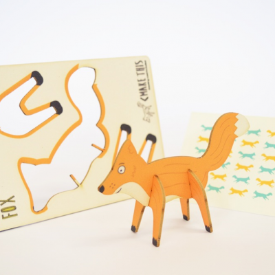 fox - made - pop out card
