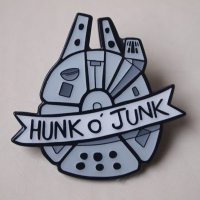 hunk of junk enamel pin badge millenium falcon stars are braw star wars the grey earl 3