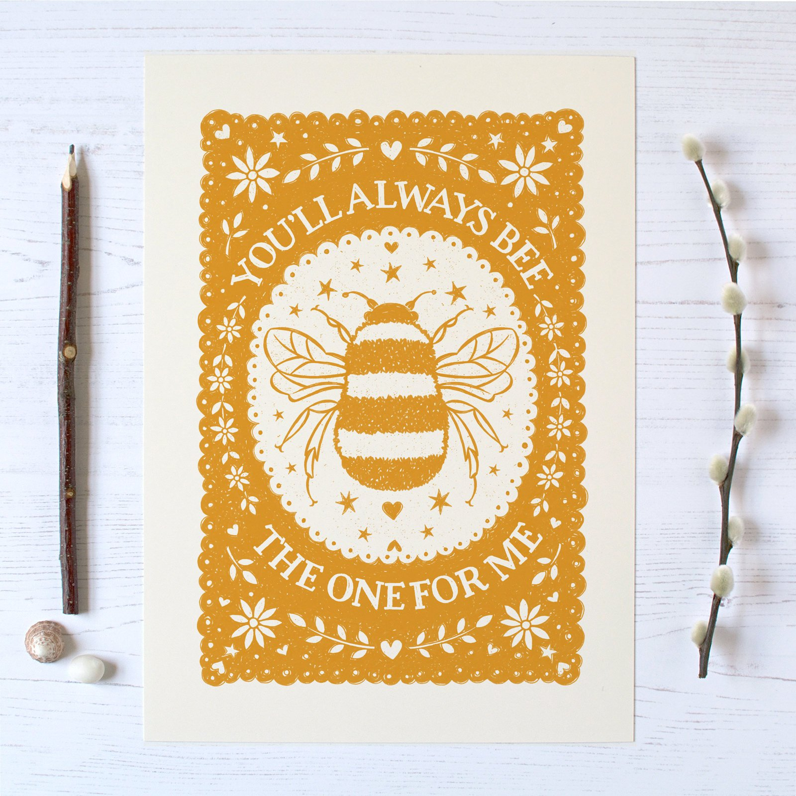 Bee The One 30 X 40 Cm Print Whats New Framed Prints Approx