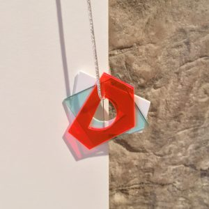 Inca Starzinsky Necklace made from Acrylic and Silver at The Red Door Gallery