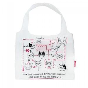 Kitten Diagram Shopping Bag