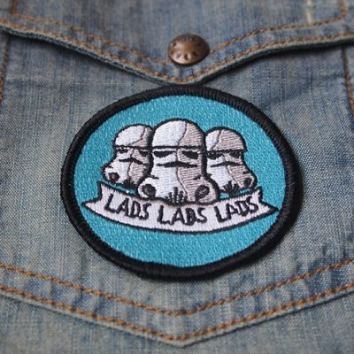 lads embroidered iron on patch sew on stormtrooper stars are braw star wars the grey earl