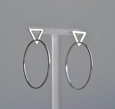 large tri hoop