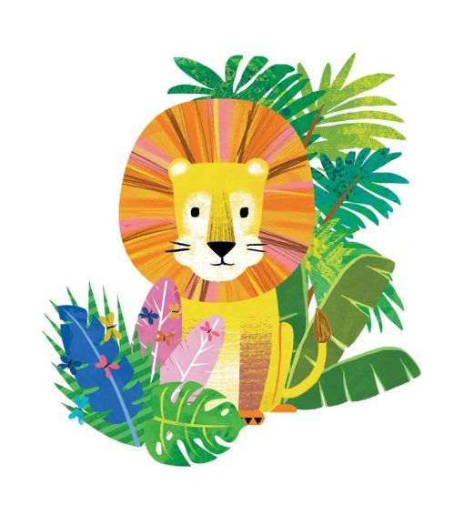 Lion in the jungle print by kate McLelland