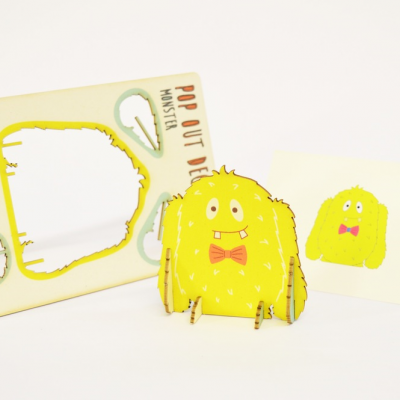 monster - made - - pop out card
