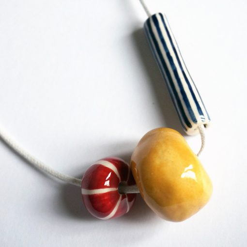 Hand Painted Ceramic Necklaces by Jeff Josephin