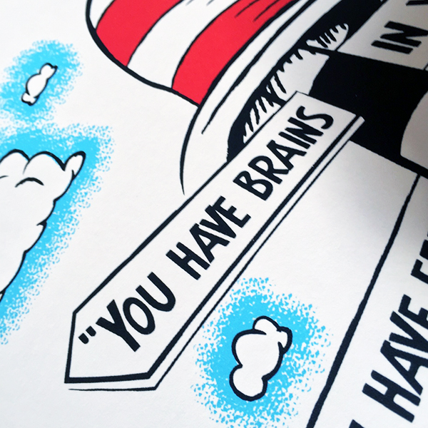 oh the places, dr seuss, barry bulsara, screen print