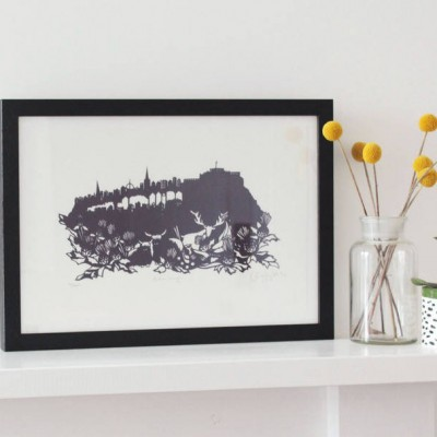 original edinburgh limited edition screenprint by emily hogarth