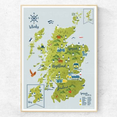 Whisky Map by Kate McLelland