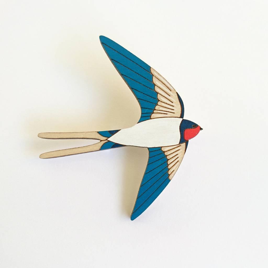 Swallow Brooch by Twiggd