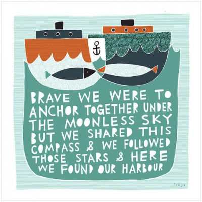 our harbour print by freya