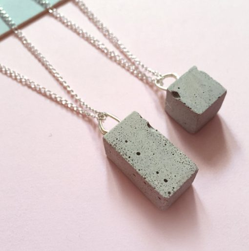 squid ink concrete jewellery at the red door gallery