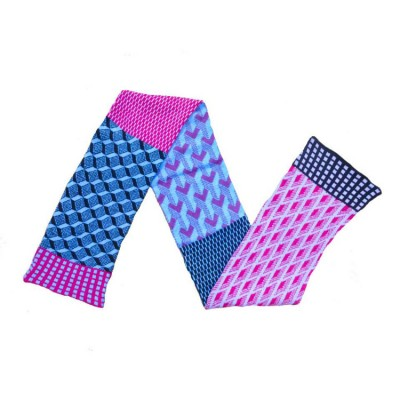 pink and blue scarf 2 by Wee Beauties