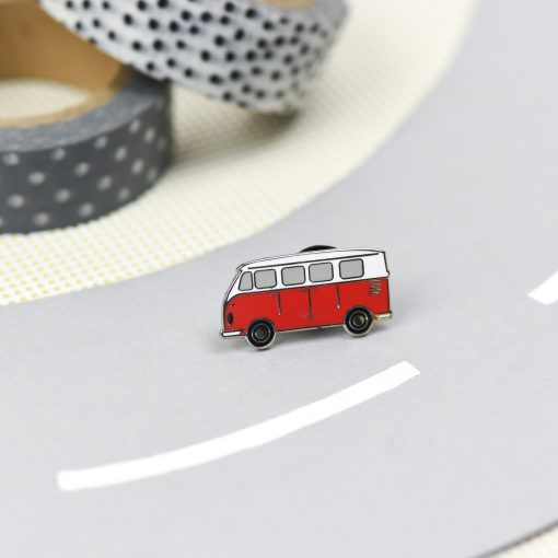 enamel camper van pin by hello sunshine