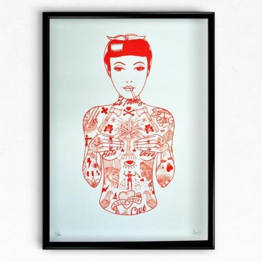 tat girl, tattoos, rich fairhead