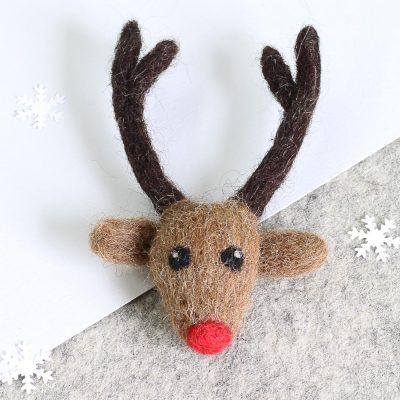 Rudolph Christmas Bauble by Hawthorn Handmade