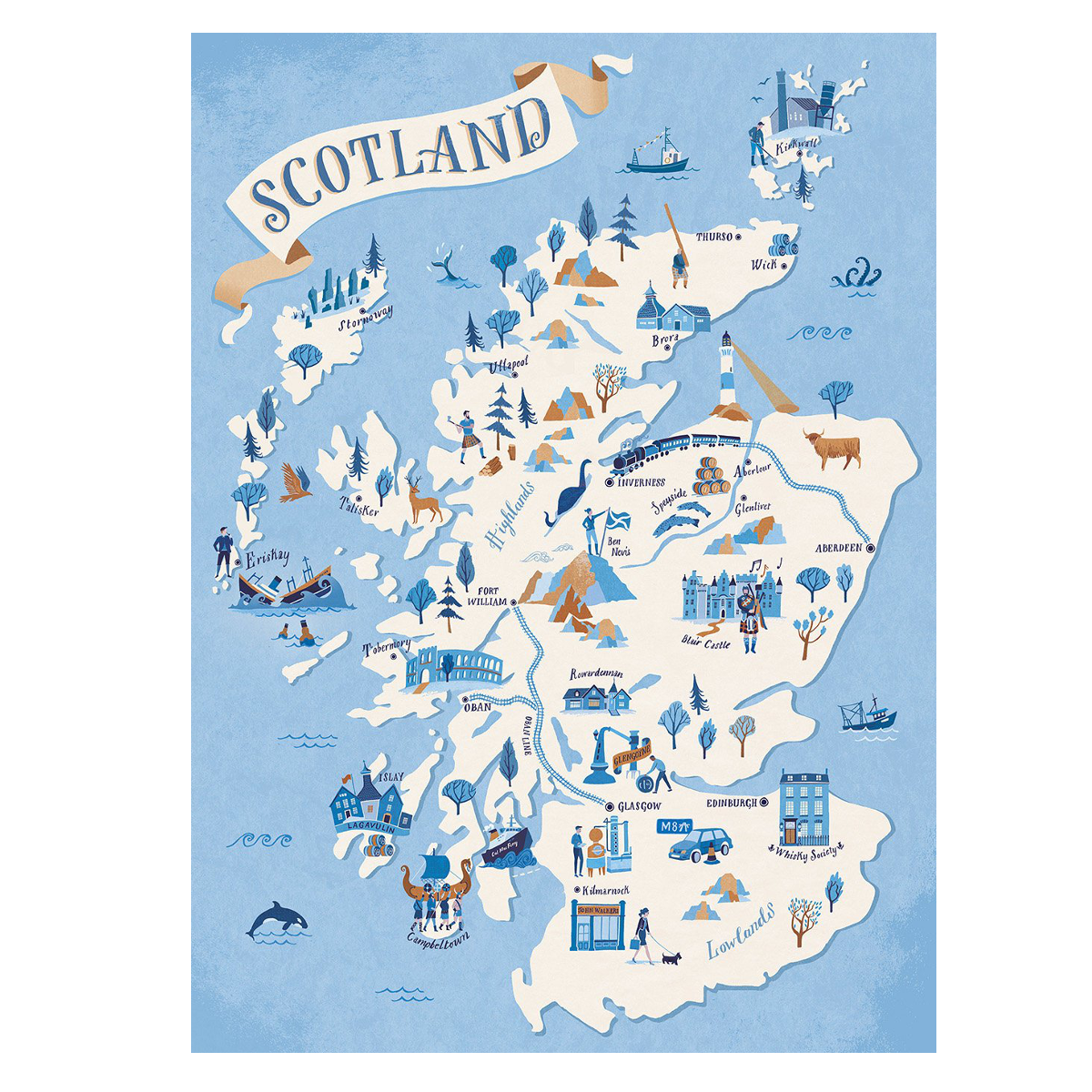 image relating to Printable Map of Scotland identify Scotland Map A3 - Framed Prints (approx A3 Dimension), Giclée, Gocco Electronic Prints, Edinburgh and Scottish - The Crimson Doorway Gallery - Artwork Prints, Structure