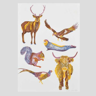 Scottish Wildlife Risograph by East End Press