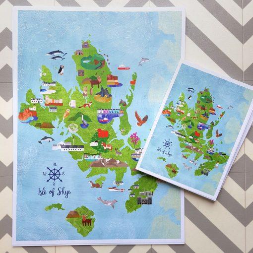 isle of skye map by kate mclelland