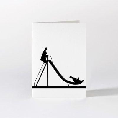sliding rabbit card