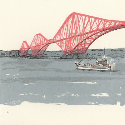 sp09 forth rail bridge with boat
